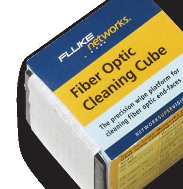 NFC-Cube Cleaning cube with wipes cleans up to 500 end-faces