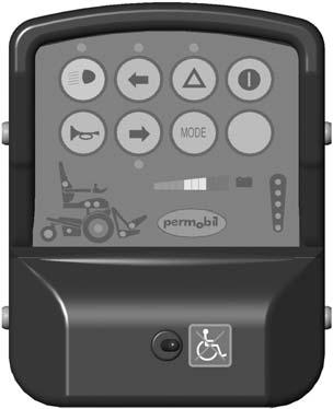 Design & Function Symbols and Functions Normal Maneuvering System Blocked The normal maneuvering system cannot be operated when the changeover switch points to the right towards the wheelchair symbol.