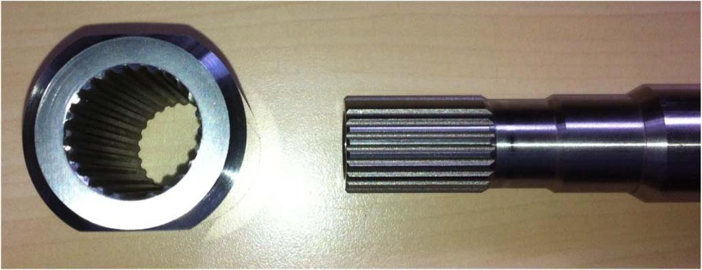 Shaft Drive Spline Nut: Designed to secure the drive spline of a shaft from rotation after being removed