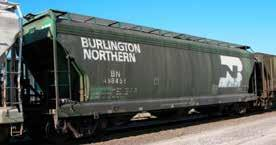 id=13819  Burlington Northern (BN) 3-Bay ACF Center Flow Covered Hopper, w/ Round Hatches