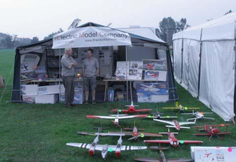 One of the stands dedicated to Electric Flight Some of the country s top pilots were at the show demonstrating all types of models from Vintage Scale Biplanes to the latest Turbine Powered Jets and