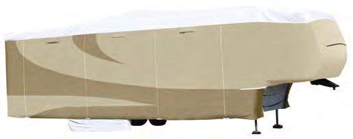 I RV & WINDSHIELD UNIVERSAL FIT RV DESIGNER SERIES ALL CLIMATE DESIGNER SERIES 5TH WHEEL CONTOUR-FIT 3 LAYER RV The most durable ALL CLIMATE 5th Wheel cover on the market.