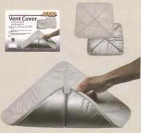 ): 86590 Black #3993 1 86609 Polar White #3983 1 VENT COVER Vent Cover insulates and blocks sunlight, moonlight or street lights from your RV s interior.