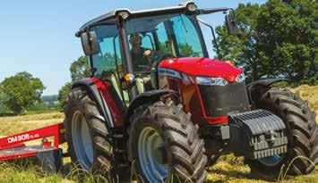 FROM MASSEY FERGUSON Adblue Tank* The Adblue tank can be filled with ease at the same time as refuelling. New AGCO power engine Three cylinder 3.3 litre engines generate power from 75 to 95 hp.
