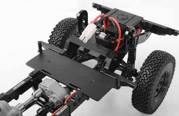 The G2 Chassis is a machined billet aluminum ladder frame with an all link suspension design, scale shock hoops, chassis servo mounts and hard body mounting points for the