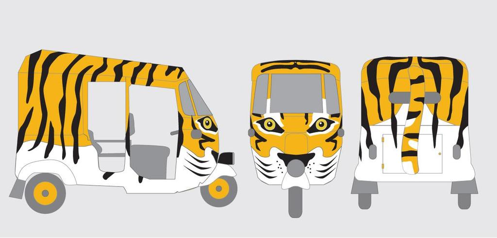 (or Tuk Tuks) with fully customised designs and