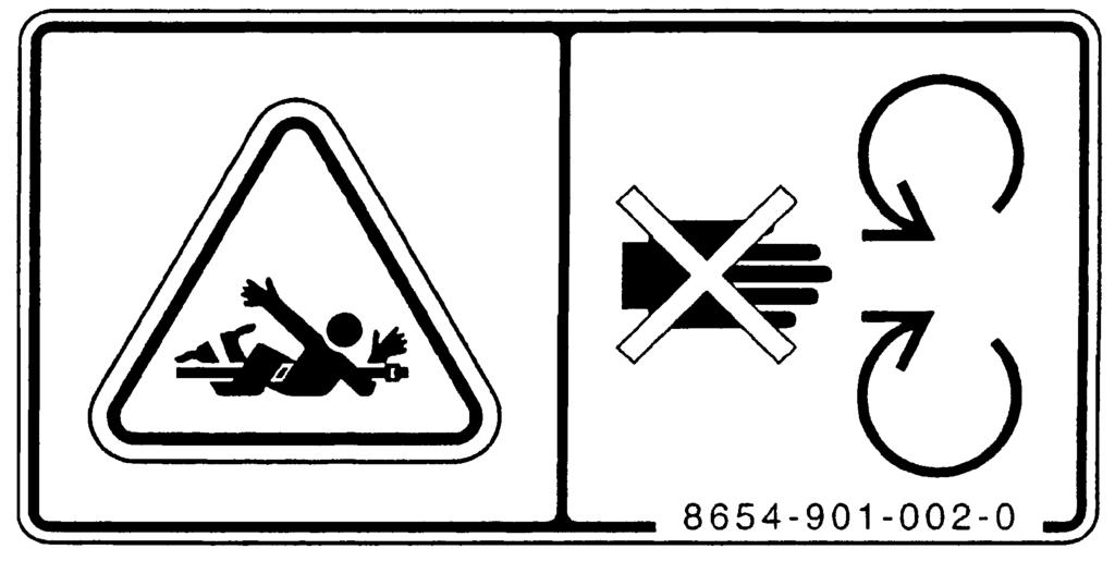 (3) Belt warning label (Code No.
