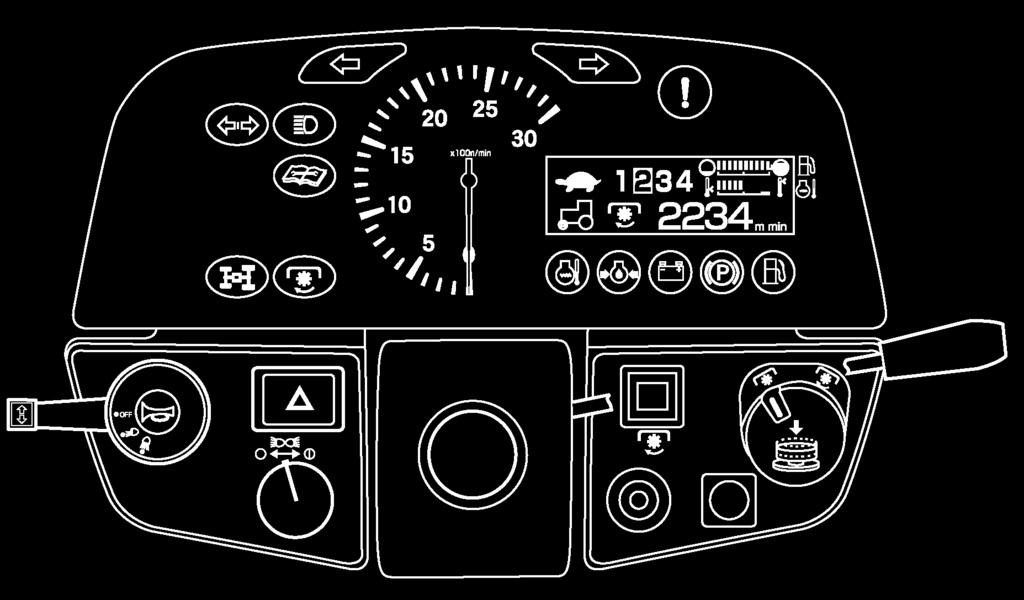 INSTRUMENTS & CONTROLS INSTRUMENT PANEL FIG. 4-32: Arrangement of gauges. Control switches and indicators located in instrument panel.