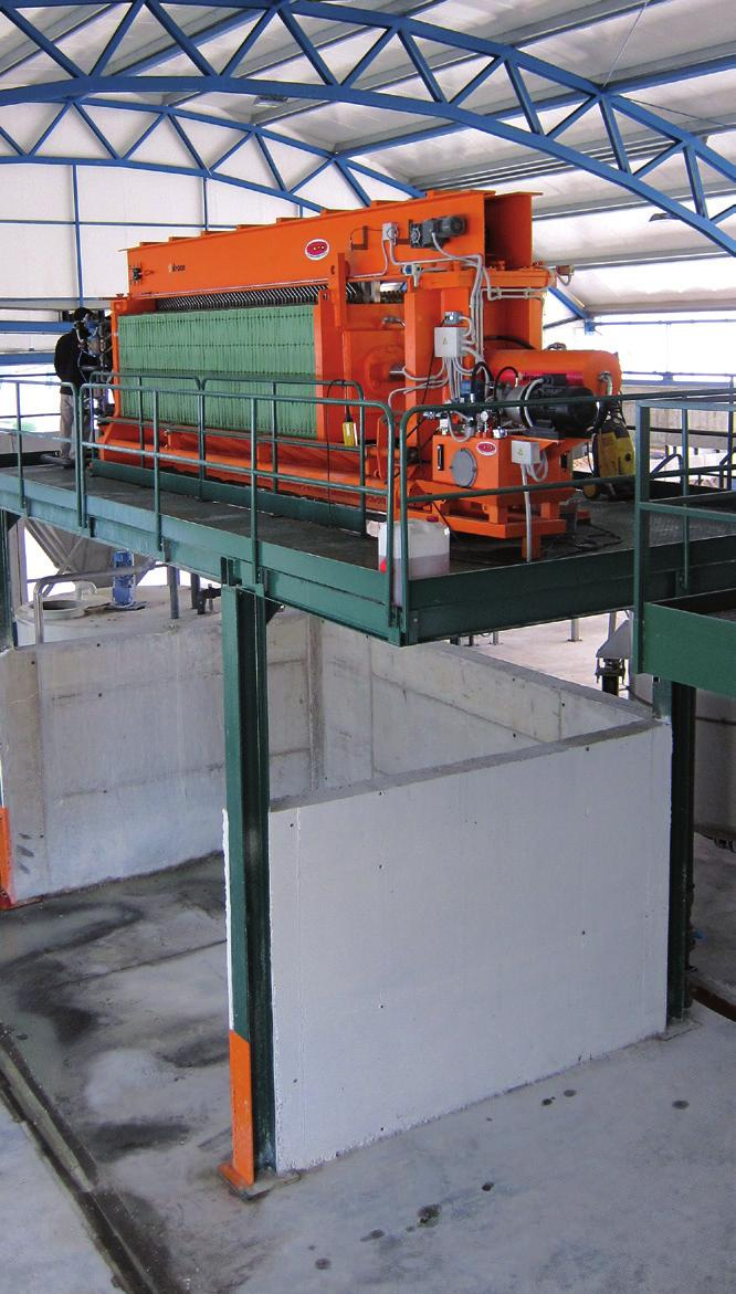 FILTER PRESS Draco offers maximum dewatering and dry solids production.