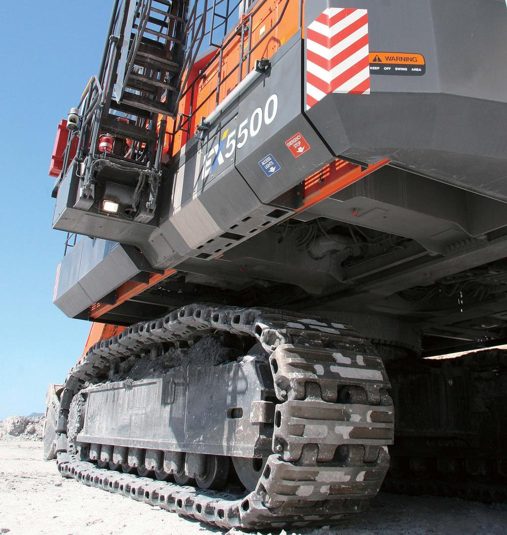 SOLUTION More Than Durable Just Plain Tough toughness means the Hitachi will continue to get giant-sized jobs