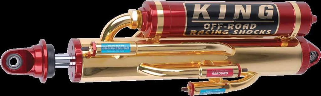 KING OPTIONS Chrome Cylinder, available option for all smoothie and bypass shocks. Polished or Anodized Reservoir, available option for all shocks with reservoir.