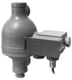 Available in combination with a 249 sensor to meet mounting requirements. Fisher 2100E electric switch and 2100 on-off pneumatic switch Sense high or low liquid levels.