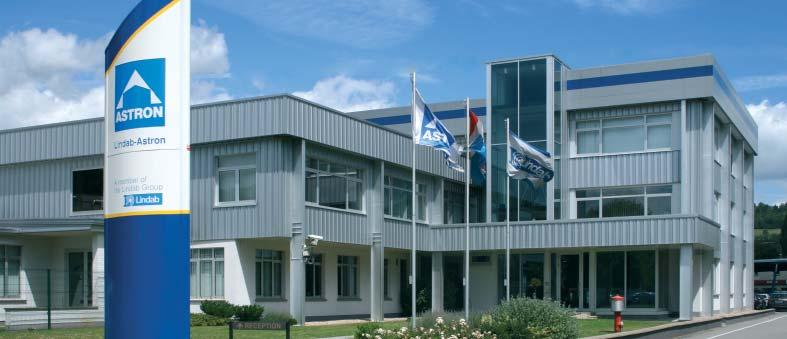 Astron is the brand name of the products sold by the Building Systems Business area of the Lindab group, Europe's largest manufacturer of steel building systems for industrial, offi ce and commercial