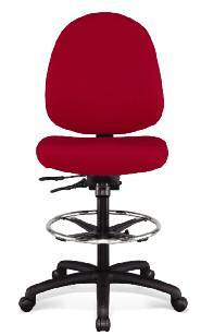height and width adjustable 360 degree swivel pneumatic height manual horizontal back adjustment basic task chair