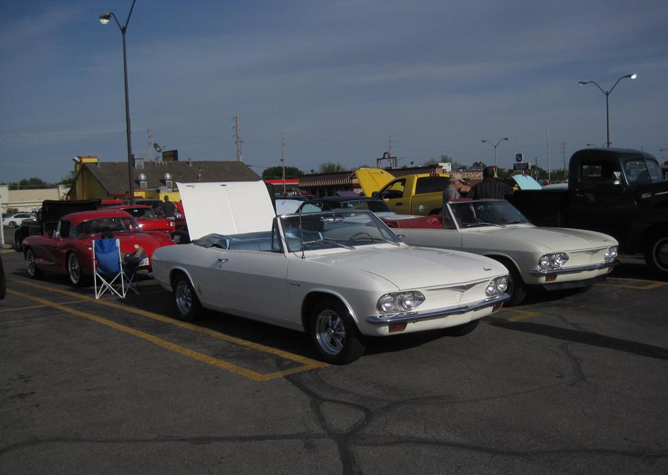Club members voted to get as many Corvairs as possible to the parking lot show at Central & West in Wichita, the first Friday of each month. Next first Friday is June 3.