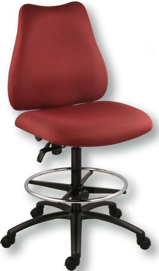 (shown with pods) ergonomic stools