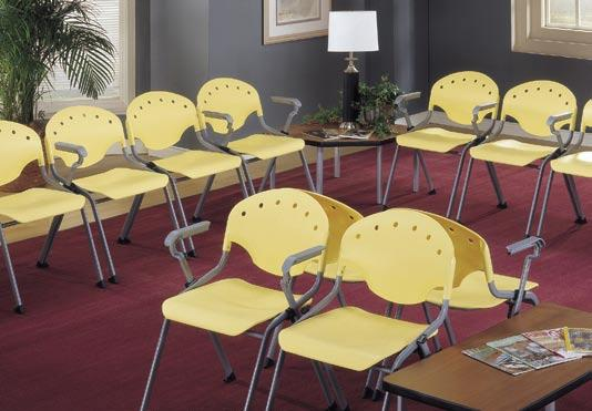 Economical Guest Chairs with Pizzazz Need a low maintenance reception room or youth area? Rico chairs are the answer.