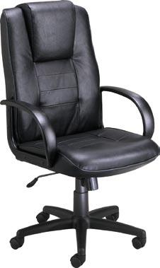 Leather seating at a budget price! Model 500-L is our most economical choice for a genuine leather executive or conference room chair.