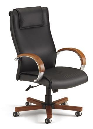 Make an Impression with Elegant Leather and Solid Wood Luxurious leather with