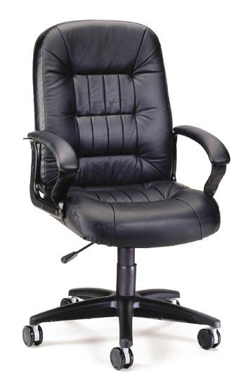 "Executive Leather for Big & Tall Finally! An affordable Big and Tall option in leather. This chair has been carefully constructed with high density 5½"" thick seat foam over a ¾"" thick plywood core."