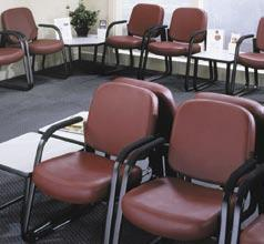 Versatile, economical, hardworking Easy-to-clean anti-bacterial vinyl Perfect for a busy waiting room.