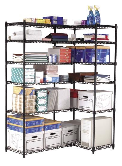 Versatile, Affordable, Steel Wire Storage Perfect for many uses and spaces, wire shelving allows maximum air circulation, sprinkler system penetration, and reduces dust build up.