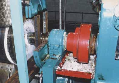 The customer has also benefited from power savings by changing from sleeve bearings to Cooper split roller bearings.