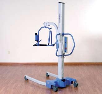 Powered Base Opening and closing of the legs is fully automated and leaves the caregiver free to focus on the requirements of the resident.