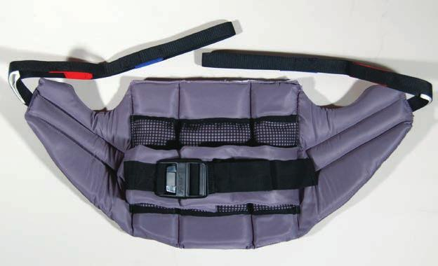 back pad. Allows access for toileting and is easy to fit for quick transfers.