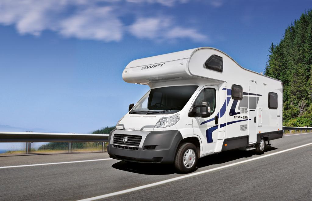 Built by the Swift Group, the UK s leading leisure vehicle manufacturer, Escapes benefit from