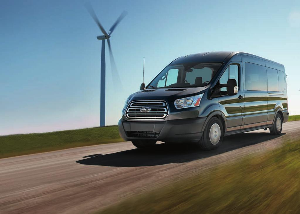 GO CONFIDENTLY. Easy maneuverability and a commanding view of the road are standard on every Transit.