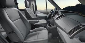 TRAVEL SAFELY Transit Passenger Wagon features 6 airbags in the front row, including Safety Canopy sidecurtain airbags that cover all rows, plus 3-point safety belts for every seat.