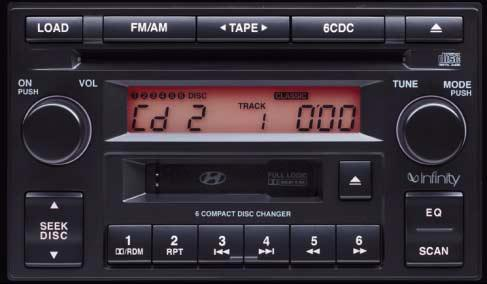 J290 The audio features an in-dash CD changer