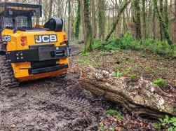 SPECIALLY BUILT FOR THE CHALLENGE, THE FORESTMASTER OFFERS YOU ALL THE INNOVATION, ERGONOMICS AND SAFETY YOU D EXPECT FROM A JCB TRACK LOADER,