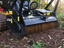 1 Forestry cutting head design utilises a high output variable displacement piston motor with self-aligning belt drive providing maximum