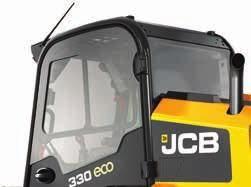 2 1 Comfort and convenience. 1 Access to a JCB skid steer or compact track oader is provided via a door that s more than doube the size of riva offerings.