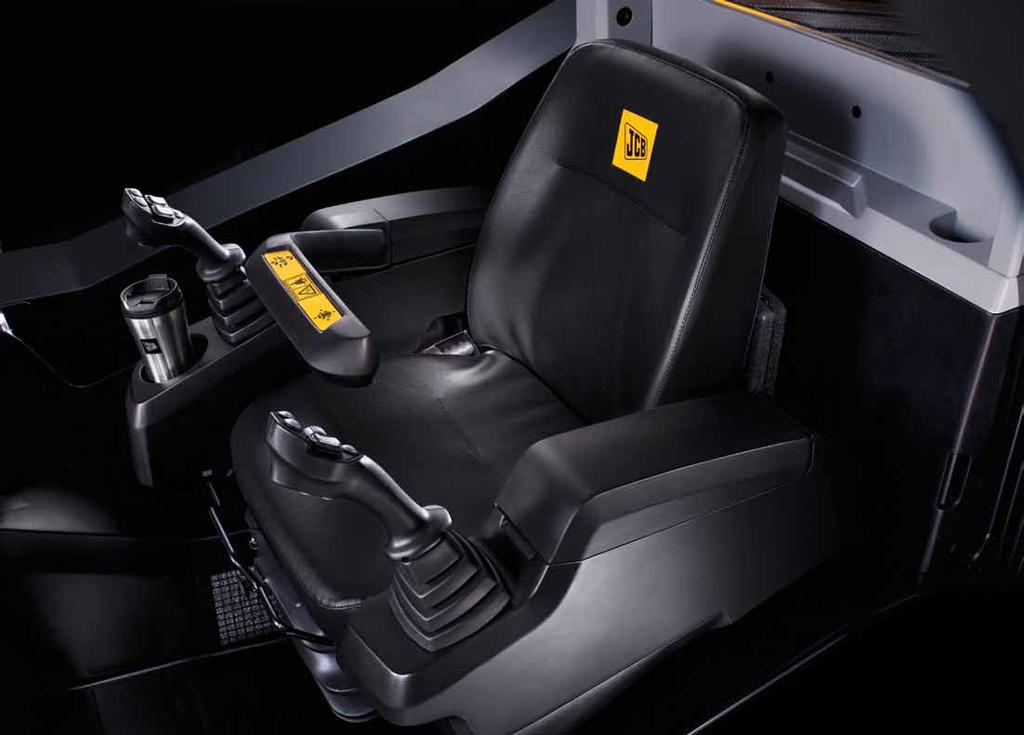 Operator environment The JCB cab environment is 33% larger than
