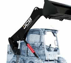 n JCB s PowerBoom has up to 20 percent more steel in one boom than the two arms of competitive skid steers.