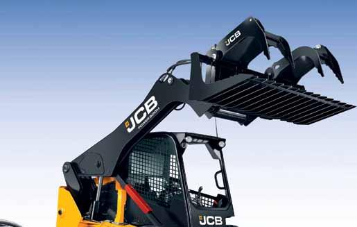 That means, unlike ordinary skid steers, you ll never risk injury by climbing over attachments to enter the cab through the front window.