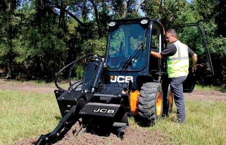 Like our telescopic handlers, we achieved superb stability on JCB skid steers by offsetting power train components and the cab to provide for a well-balanced machine.