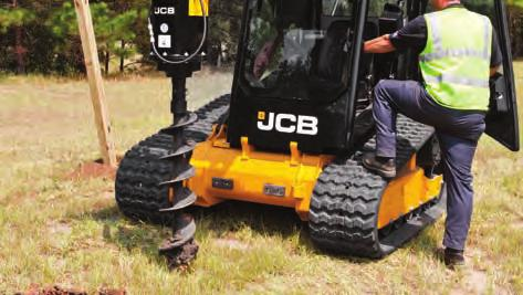 AUGERS n JCB augers provide high torque allowing you to drill with speed and precision in the toughest of ground conditions.