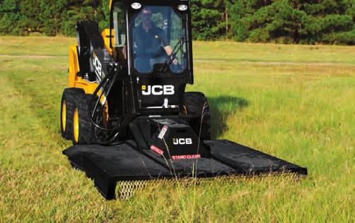 BROOMS, ANGLE n JCB angle brooms provide clean up solutions for a variety of applications including street and parking lot maintenance, construction and industrial site clean-up and snow removal.