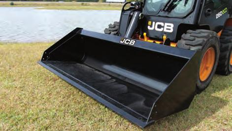 BUCKETS, LIGHT MATERIAL n Ideal for moving large amounts of light weight material such as mulch, grain, or feed. n Rolled inside design allows for easy clean out.