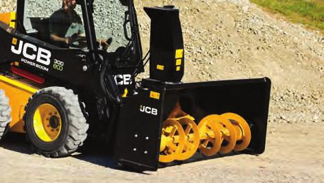n Hydraulically adjusted depth and side shift functions are easily operated from inside the cab with the JCB multi-function controls.