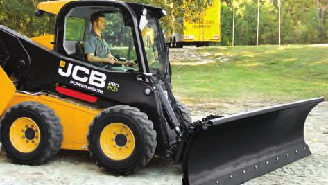 SNOW BLADES / SNOW PUSHERS n The JCB snow blade allows you to efficiently clear snow from sidewalks, driveways, and parking lots.