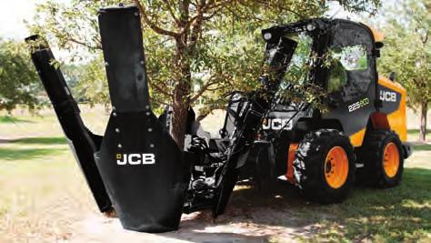 n The JCB snow push (picture inset) is designed and built to push loose material forward such as snow and manure.