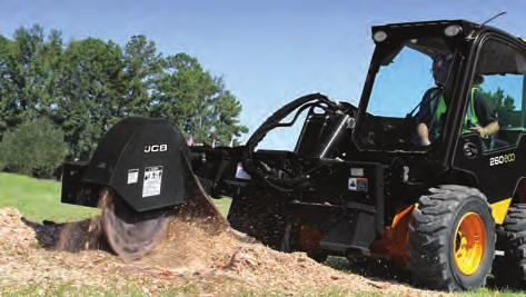 n 60º of swing arc allows the operator to cover a large cutting area in a single pass for quick stump removal. n The offset mounted swing arm design provides excellent visibility to the cutting area.