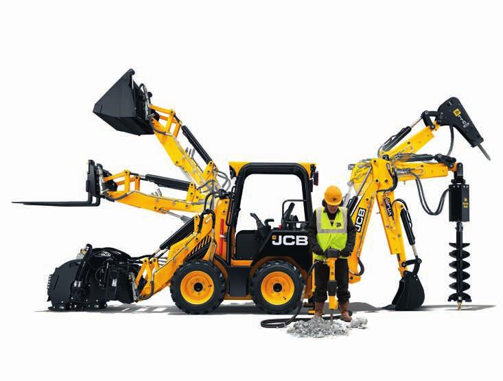 THE OPTIONS LIST. IN ITS STANDARD TRIM, THE NEW JCB CX IS A HIGHLY PRODUCTIVE, VERSATILE MACHINE.