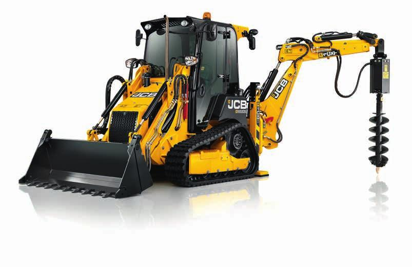 PRODUCTIVITY AND PERFORMANCE. Power is provided by a 36.3kW (49hp) engine with 2800rpm that s enough to operate a 5 tonne mini excavator.
