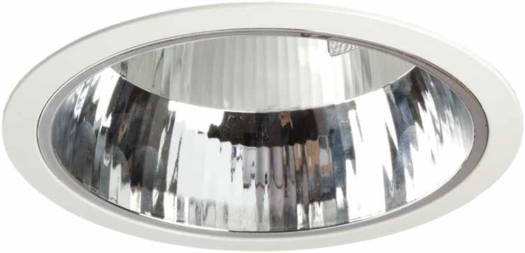 Control Gear: Dimmable: Emergency: Reflector: Housing: Electronic Analogue 1-10V or DALI dimmable Remote 3 hours maintained Scratch proof facetted reflector Choice of white or silver bezel Low